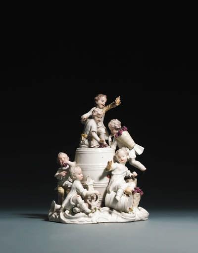 A Meissen pot pourri vase and