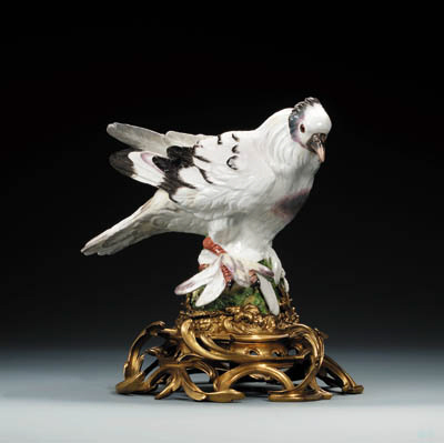 A Meissen ormolu-mounted dove