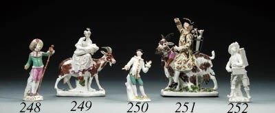 A Meissen figure of Count Brhl