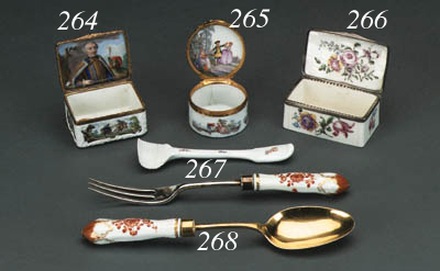 A Meissen gilt-metal-mounted c