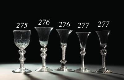 Three airtwist wine-glasses