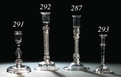An opaque-twist candlestick