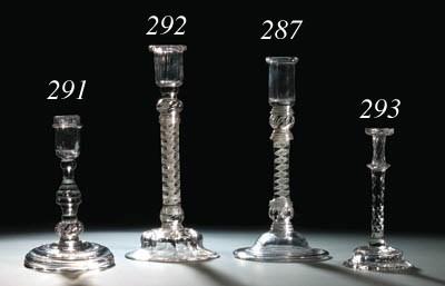 A baluster candlestick