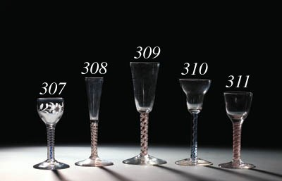 An opaque-twist ratafia-glass