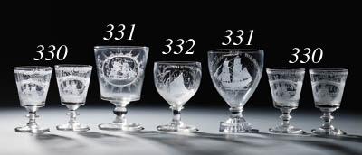 Four Sunderland engraved rumme