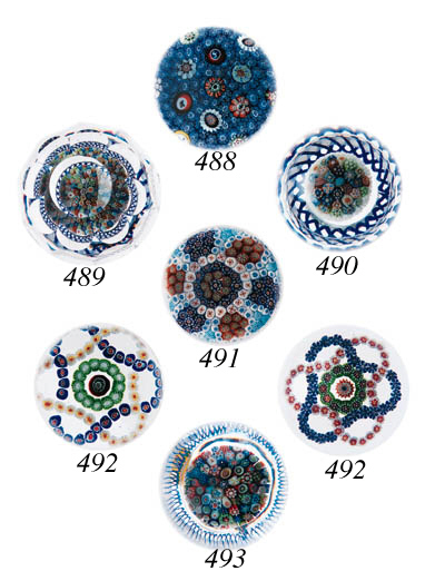Two Baccarat patterned millefi