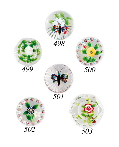 A Baccarat butterfly and white