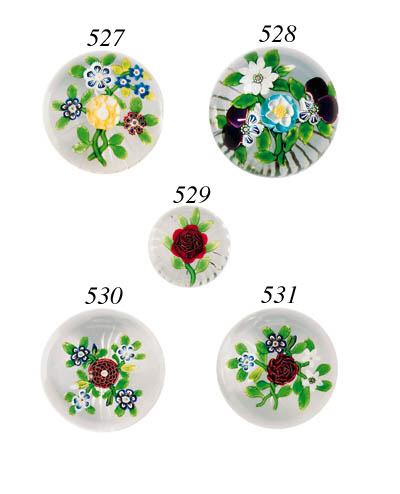 A Baccarat flat bouquet weight