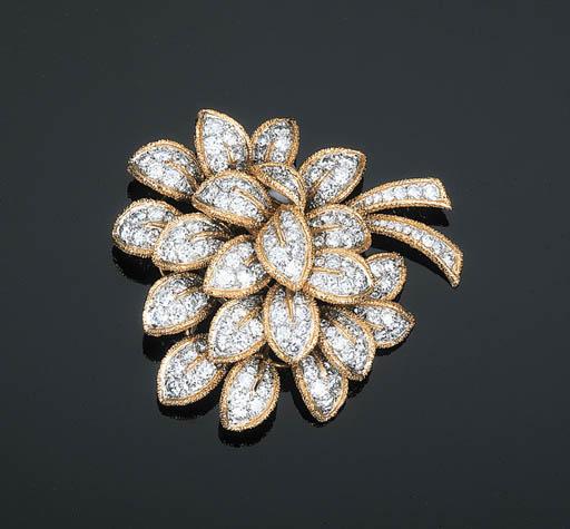 A Diamond Brooch by Van Cleef