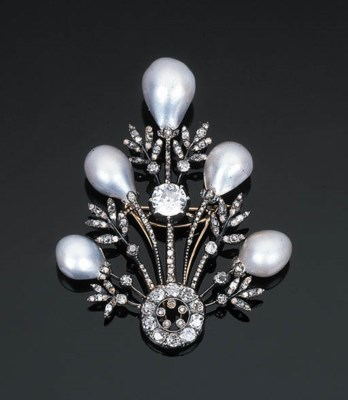 A Belle Epoque Pearl and Diamo