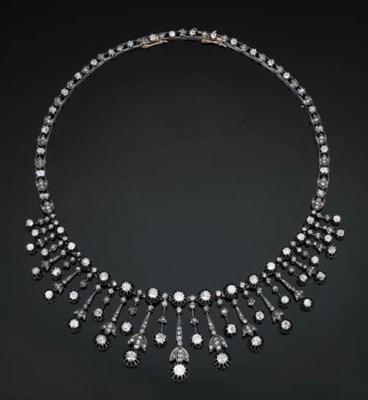 An Antique Diamond Fringe Neck