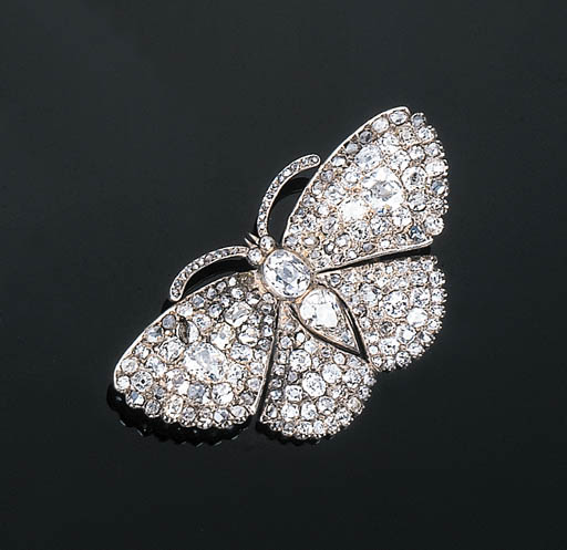 An Antique Diamond Butterfly B