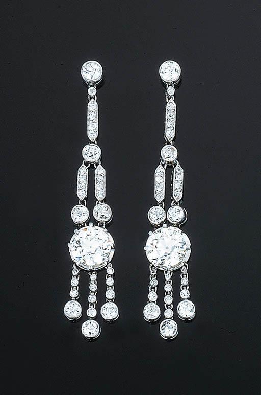 A Pair of Belle Epoque Diamond