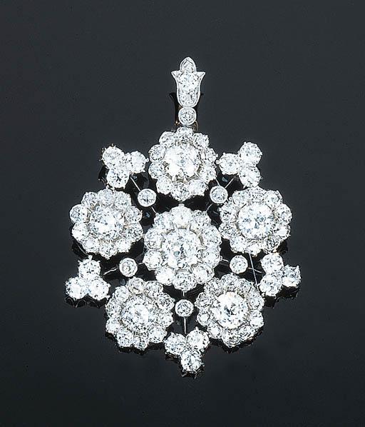 A LATE VICTORIAN DIAMOND-SET C