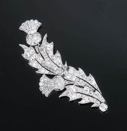 A Diamond Thistle Brooch