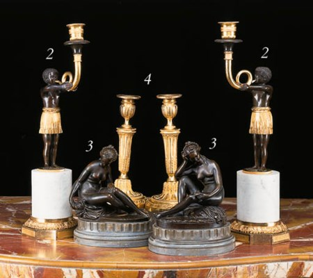 A PAIR OF FRENCH BRONZES