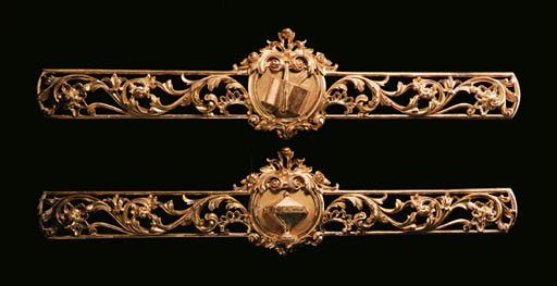 A PAIR OF PORTUGUESE GILTWOOD