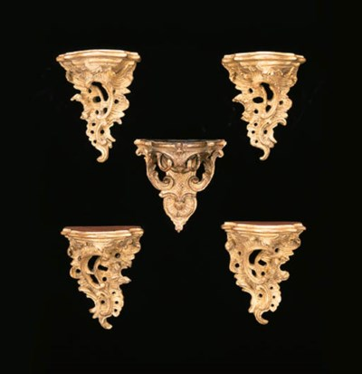 AN EARLY LOUIS XV GILTWOOD WAL