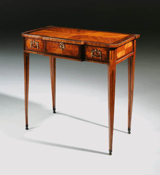 A DUTCH TULIPWOOD AND ROSEWOOD