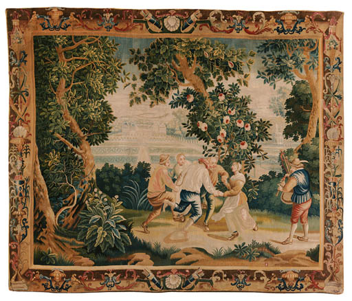 A LILLE PASTORAL TAPESTRY