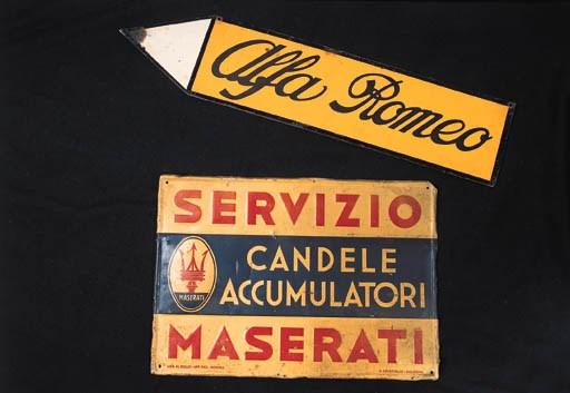 Maserati - Servizio - A rare p