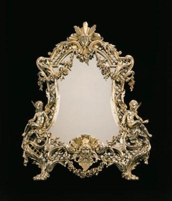 A French silver-gilt dressing-