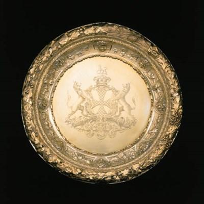 A Victorian silver-gilt sidebo