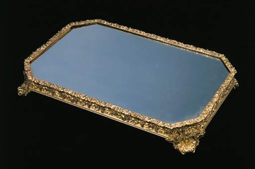 A George IV silver-gilt mirror