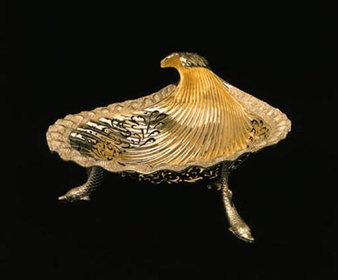 A George III silver-gilt baske