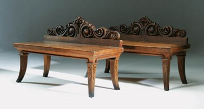 A PAIR OF IRISH WILLIAM IV OAK