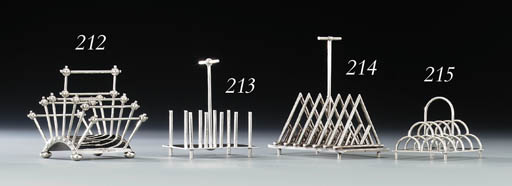 An electroplated toastrack