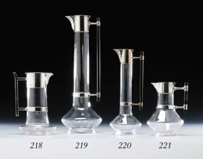 An electroplated claret jug