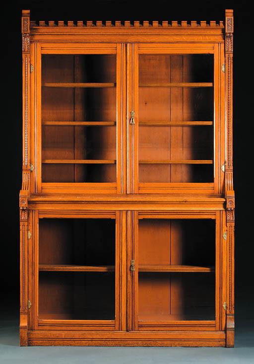 A large oak bookcase