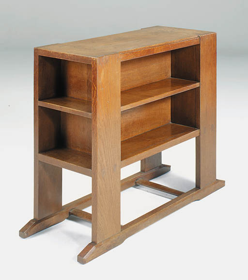 An oak bookcase