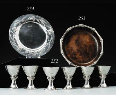 A set of six goblets