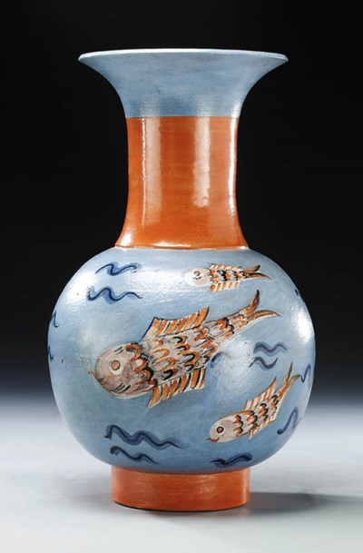 A glazed terracotta vase, Mode