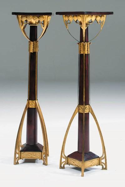 A pair of gilt-metal and mahog