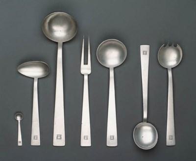 A five piece serving set