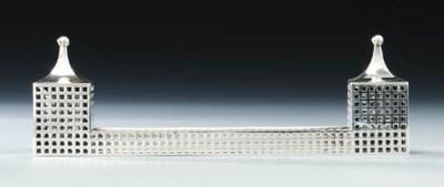 A metal inkstand