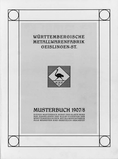 'WMF Musterbuch', a Catalogue