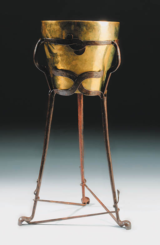 A Wrought iron Jardiniere