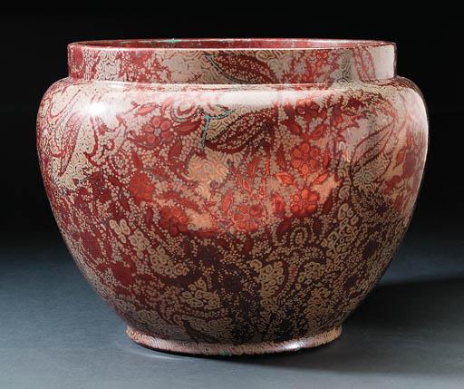 A lustre glazed earthenware ja