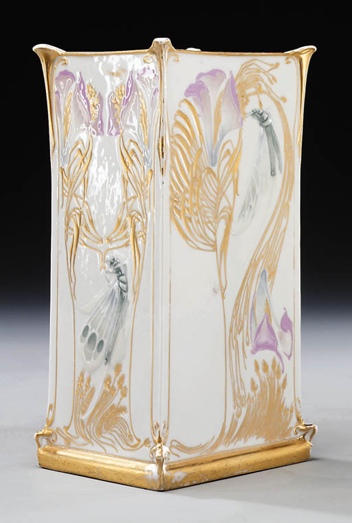 A Gilded Porcelain Vase