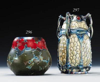 A lustre glazed vase