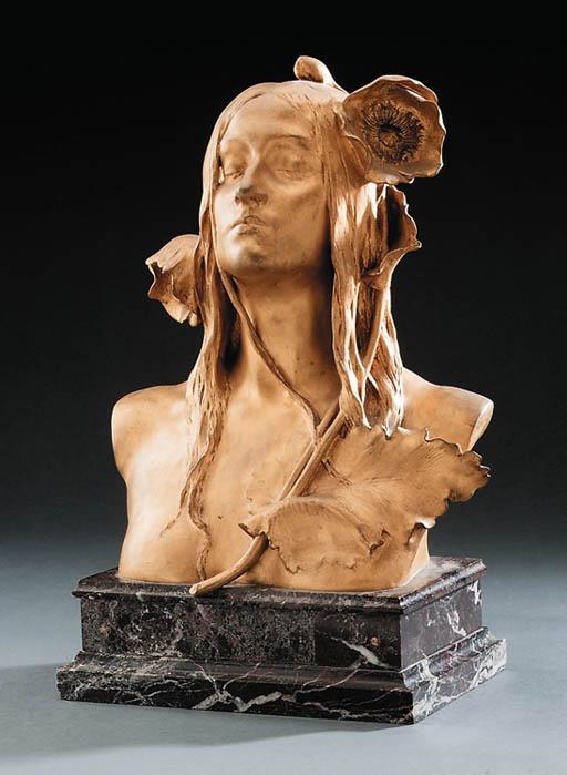 'Ophelia', a Gilt Bronze Bust