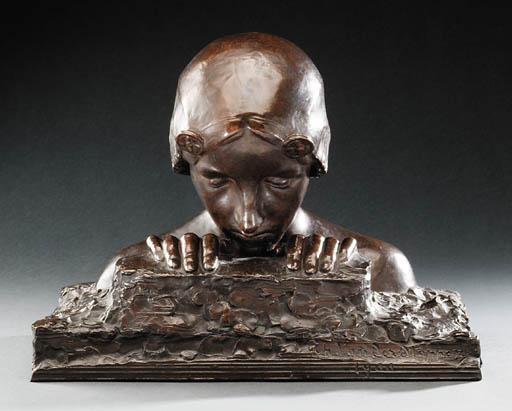 'The Treasure', A Bronze Sculp