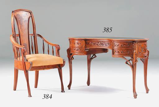 A Marquetry Armchair