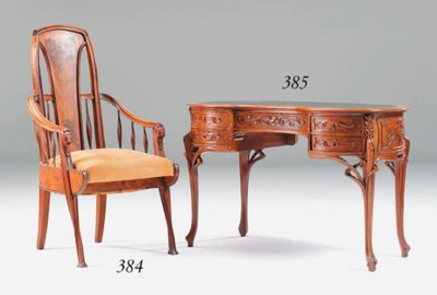 A Marquetry Armchair