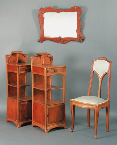 Two Night tables, a Mirror and