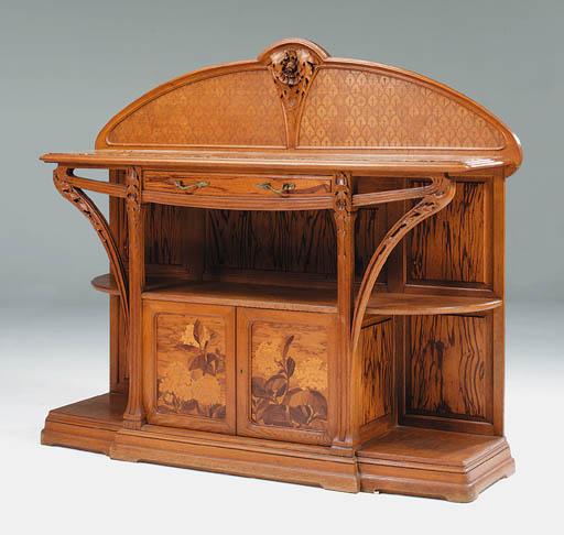 A Carved Oak Sideboard 'Modele